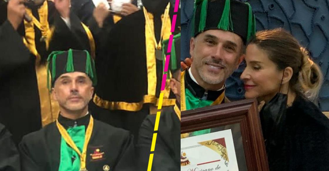 Sergio Mayer presume que recibió Doctorado Honoris Causa