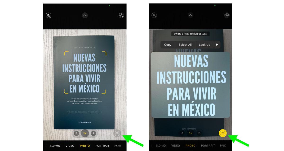 Funciones de Live Text para iOS15
