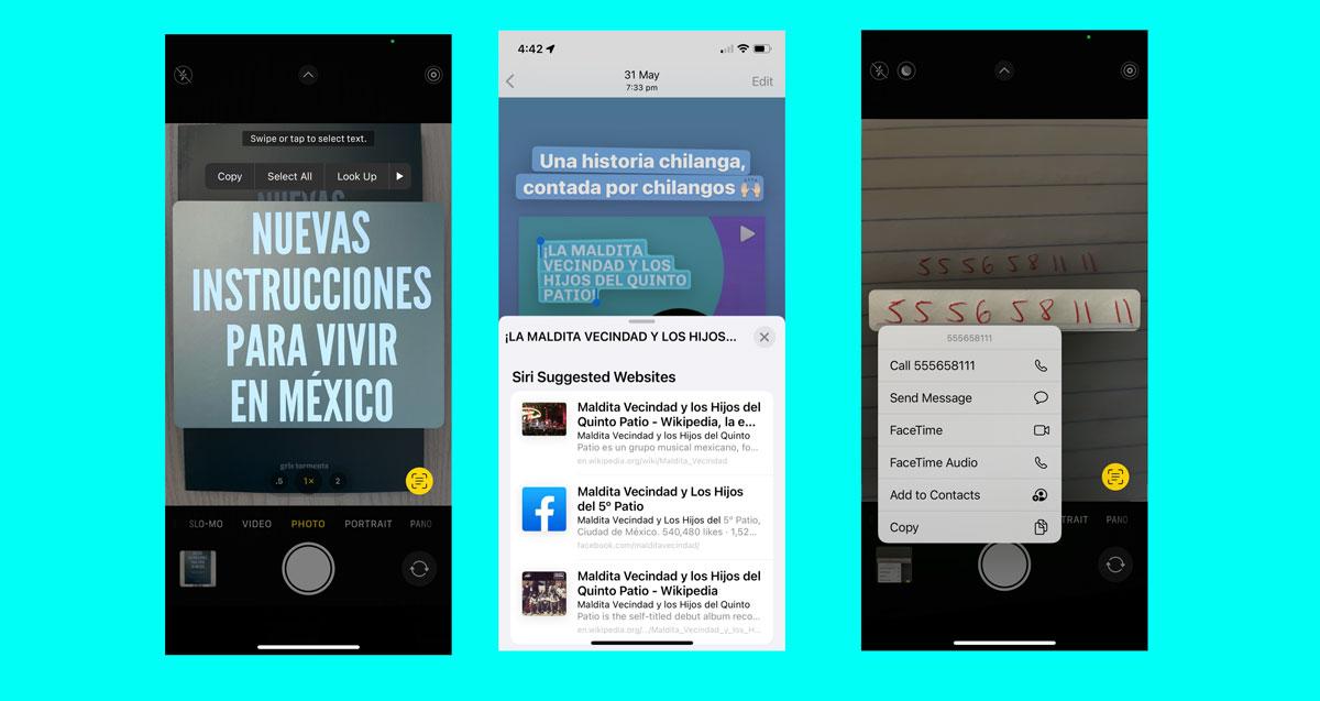 Qué es y como funciona el Live Text del iOS15 en el iPhone