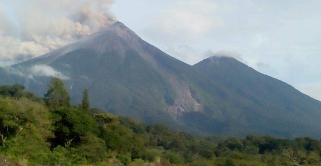 Volcano fire