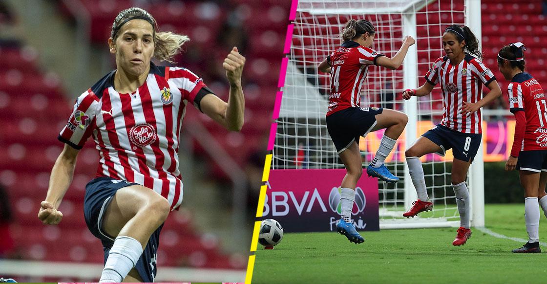 El gol de Alicia Cervantes y el festejo al estilo Omar Bravo en el clásico tapatío femenil