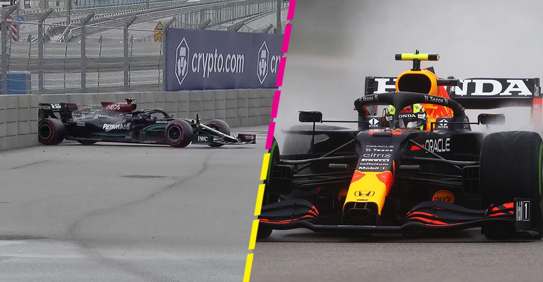 Checo Pérez Lewis Hamilton Gran Premio de Rusia