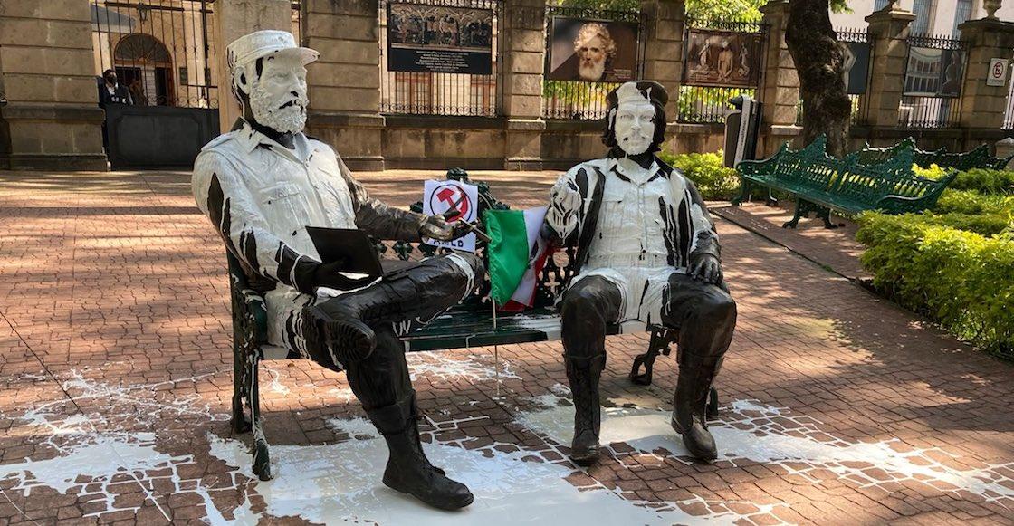 estatuas-che-guevara-fidel-castro-cdmx