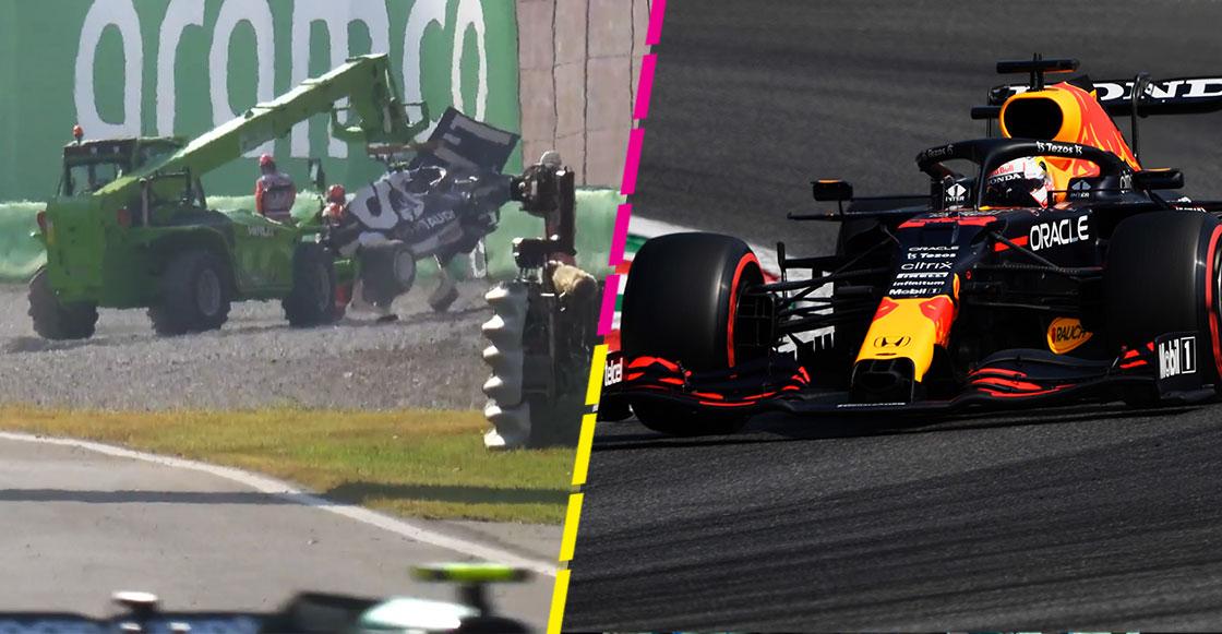 El choque de Pierre Gasly y la sanción a Bottas que ayuda a Checo y Verstappen en el sprint del GP de Italia