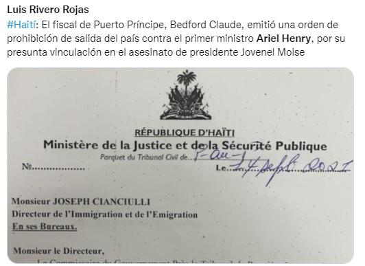 Prime Minister of the Order of Haiti