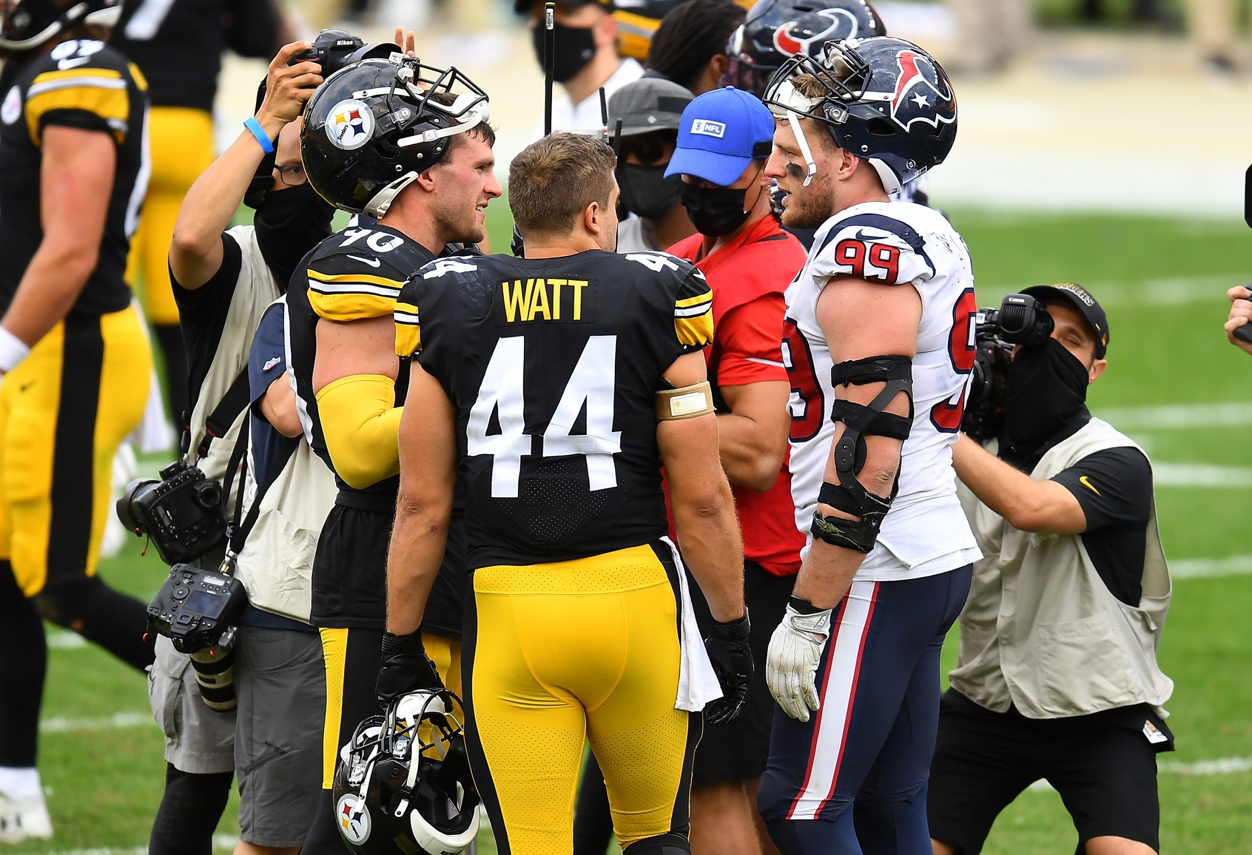 Watt Brothers at an NFL game