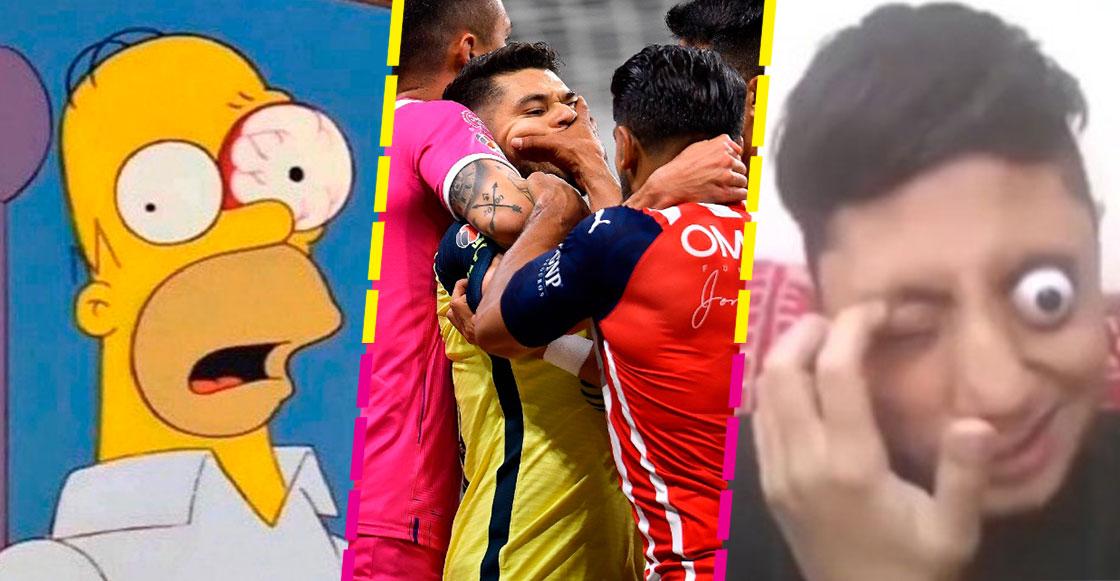¡Casi le saca un ojo! No hubo goles, pero los memes se llevan el clásico entre América y Chivas