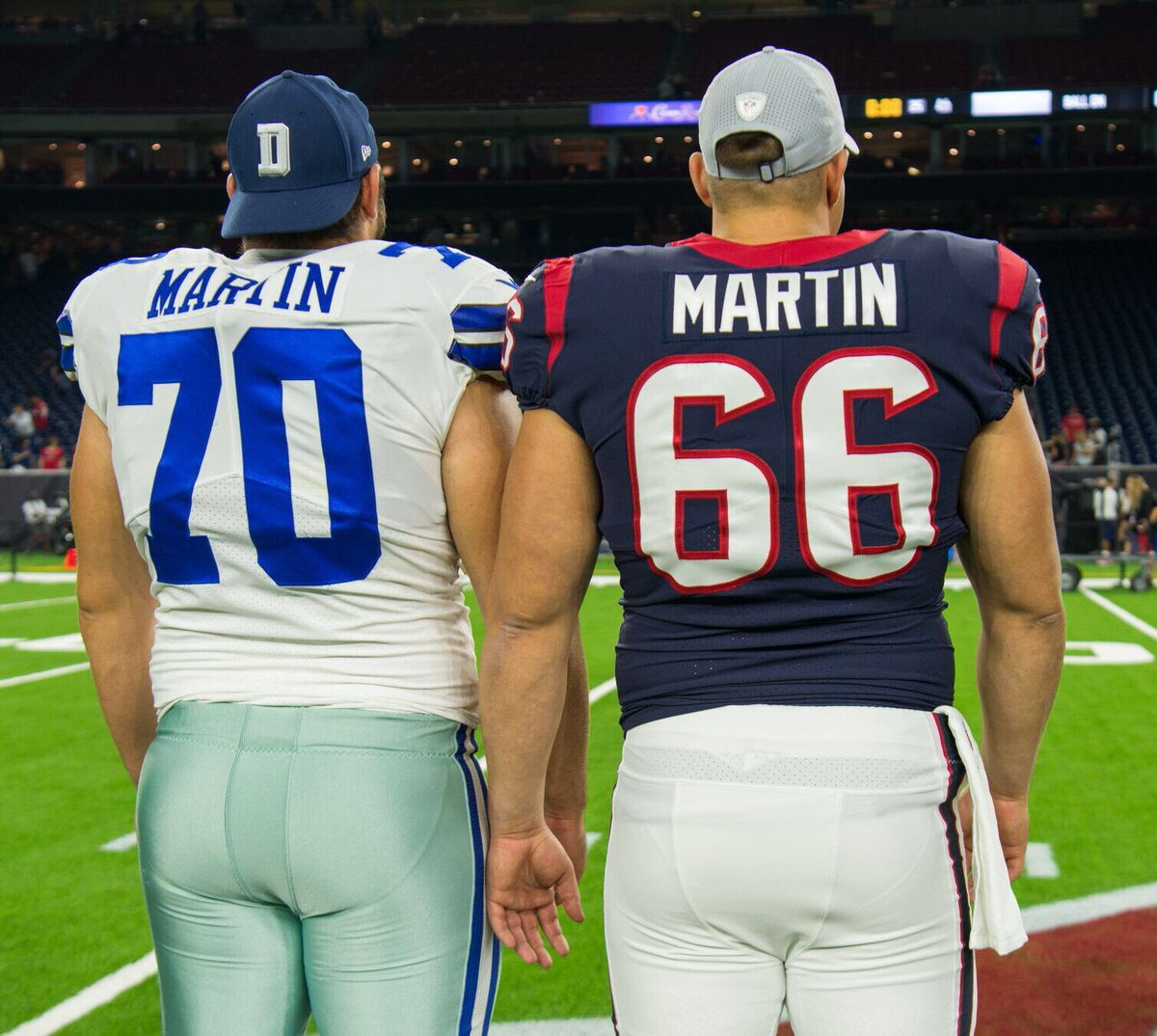 Nick and Zack Martin in their NFL duel
