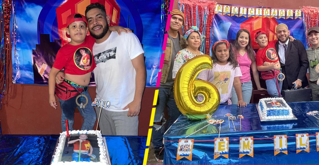Niño celebra su cumpleaños con temática de 'Vecinos' porque admira a 'Germán'
