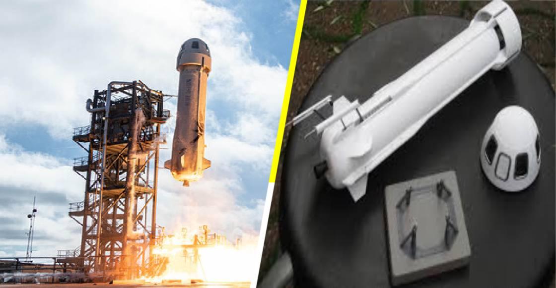 Esta réplica a escala de la nave espacial 'New Shepard' es todo lo que necesitas