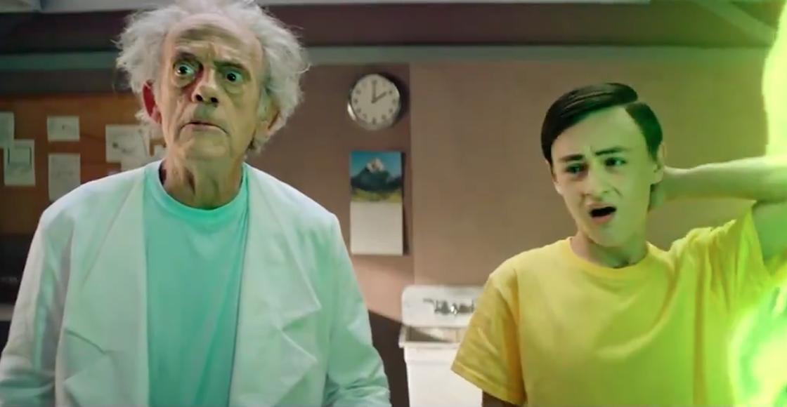 ¡Checa a Christopher Lloyd y Jaeden Martell como las versiones live-action de 'Rick and Morty'!