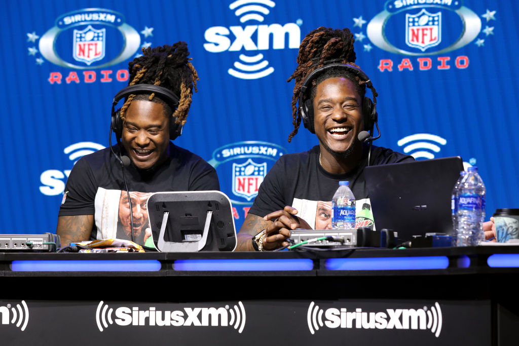 Saquem and Shaquill Griffin with Seahawks