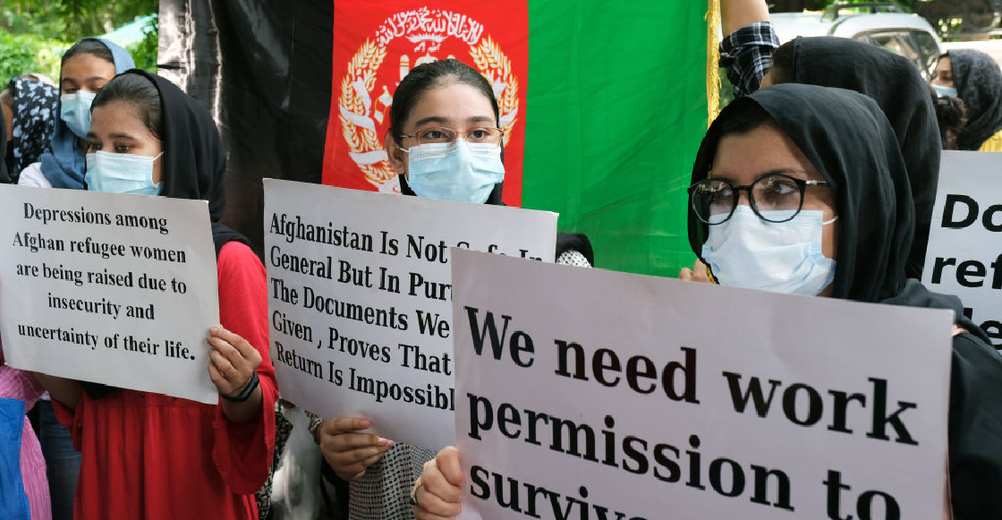Taliban suppresses Afghan women's protest