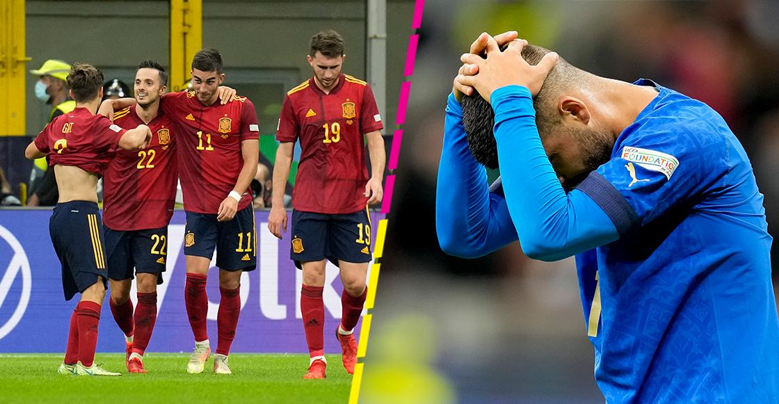 ¡A la final de la Nations League! Pásale a ver los goles con los que España pulverizó el récord invicto de Italia