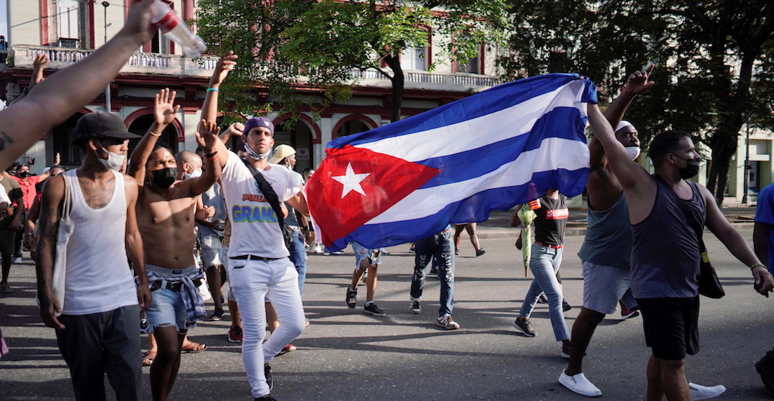 Cuba-Demonstration-Opposition