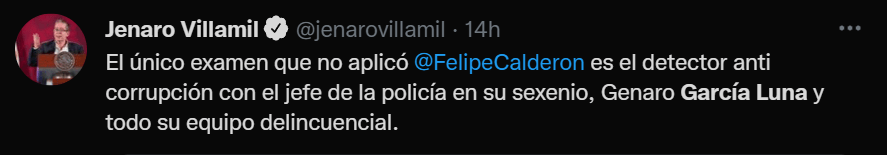 "Felipe Calderón anda presumiendo en España que él ""liberó"" a México de la violencia"