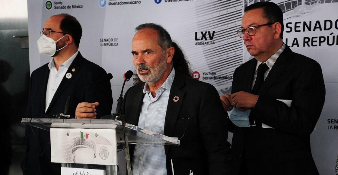 CIUDAD DE MÉXICO, 12OCTUBRE2021.- El Grupo Plural parlamentario del Senado de la República ofreció una conferencia de prensa encabezada por el legislador Gustavo Madero donde hablaron del conflicto de gas que se suscitó el día de ayer.