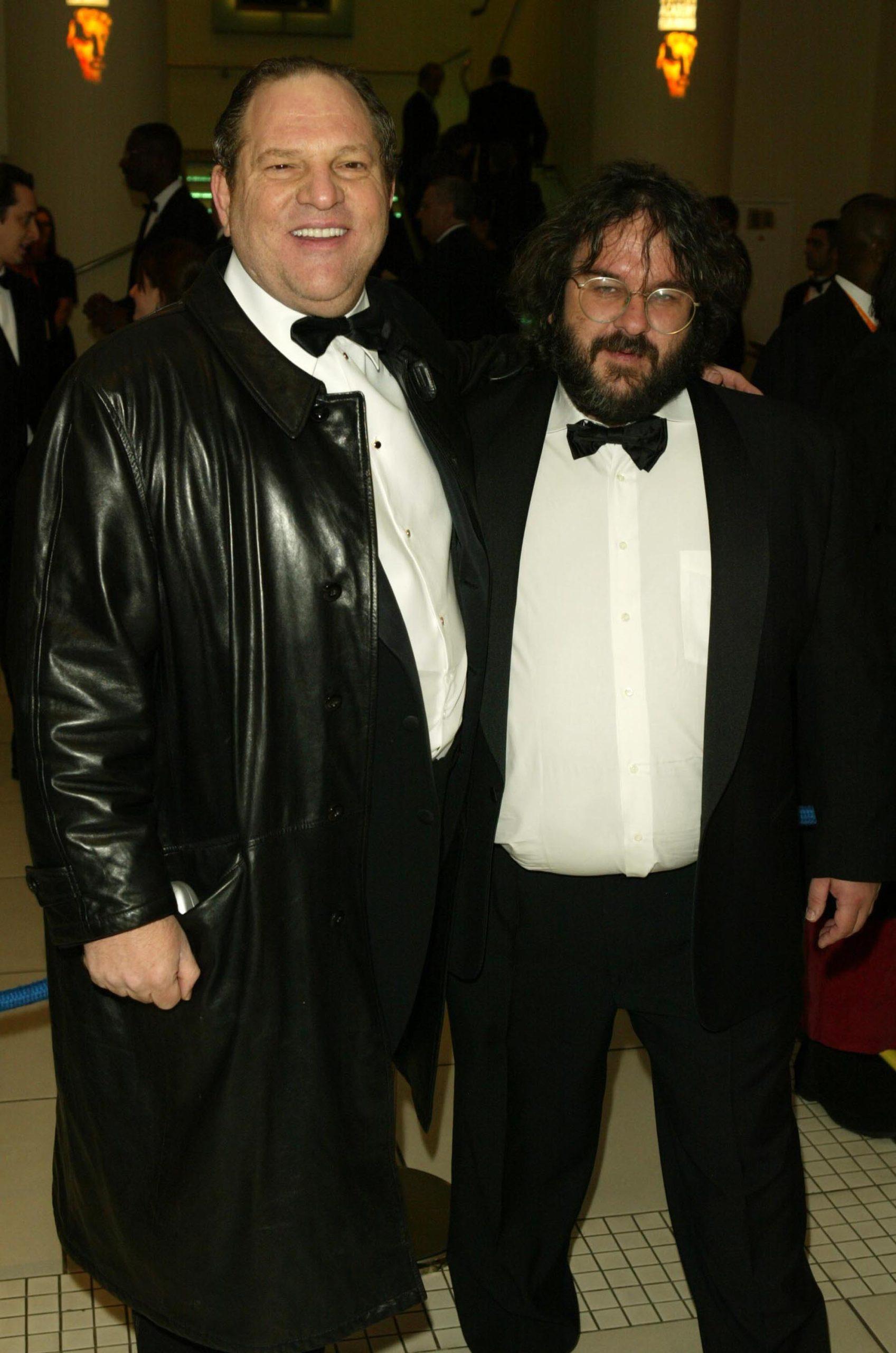 Harvey Weinstein y Peter Jackson, antes de convertir en Orco al productor.