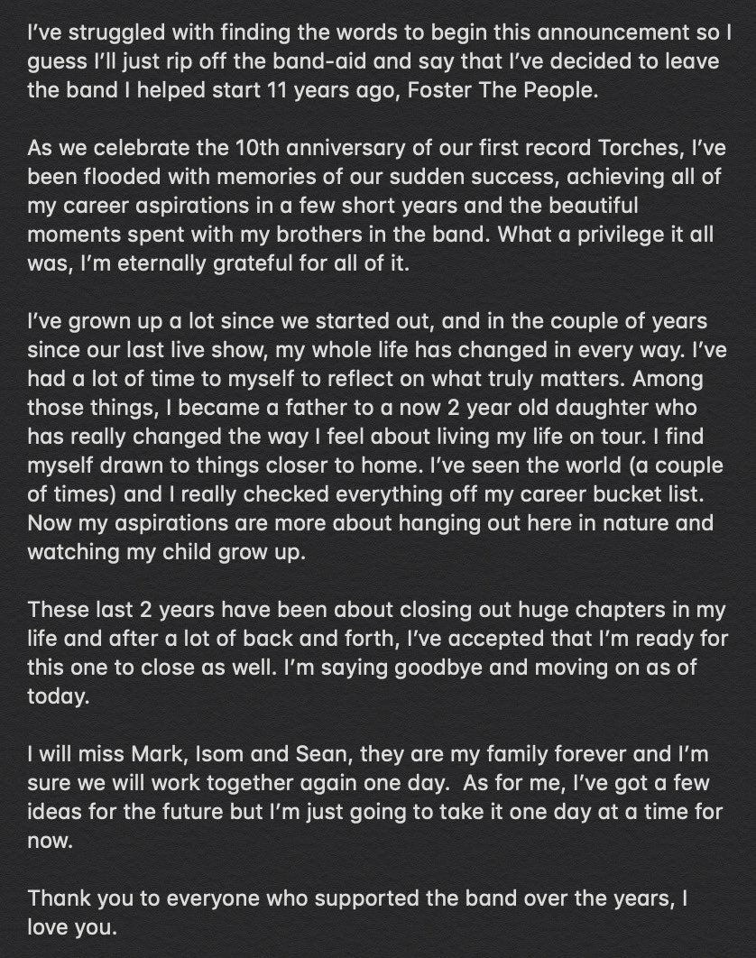¡¿Por?! Mark Pontius anuncia su salida de Foster The People