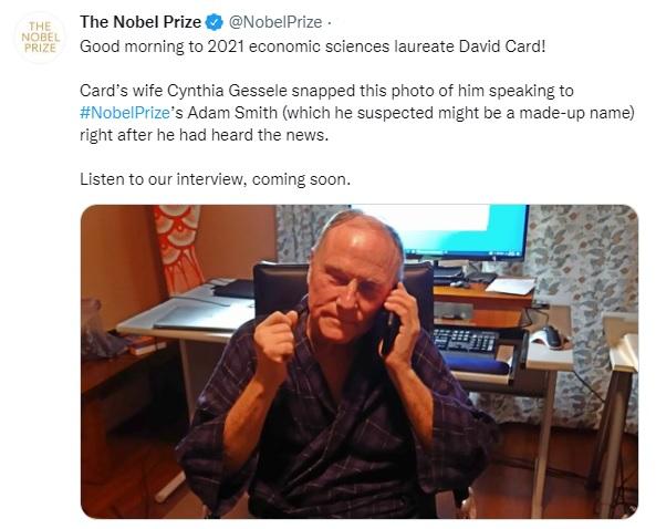 2021 Economics Aristocrat David Card