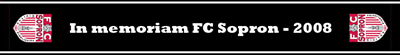 FC Sopron emléksál