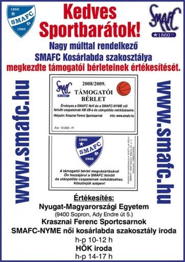 SMAFC támogatói bérletek