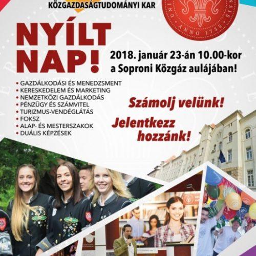 Nyílt napot tartanak a Soproni Közgázon