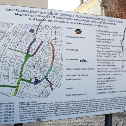 Már a Szent György utcában tart a belváros felújítása!