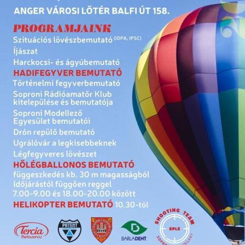 Lesz hőlégballonos és helikopteres bemutató is!