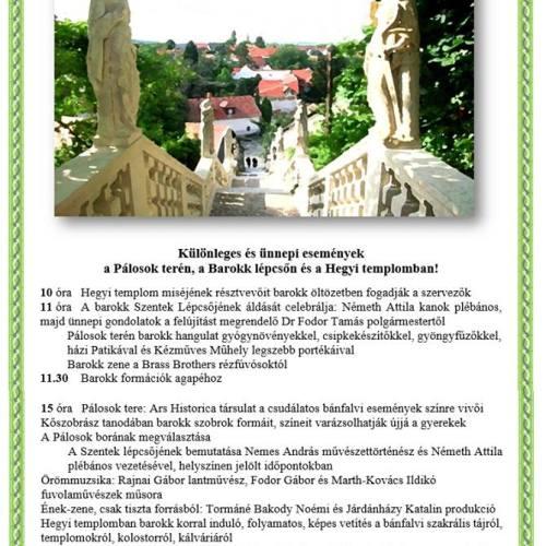 300 éves Sopronbánfalván a Szentek Lépcsője