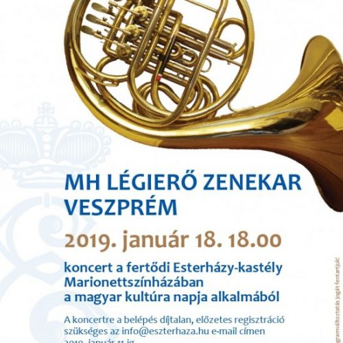 Az MH Légierő Zenekara ad koncertet a fertődi Esterházy-kastélyban