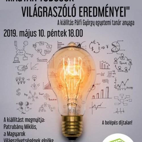 Kiállítás meghívó: Magyar tudósokvilágraszóló eredményei!