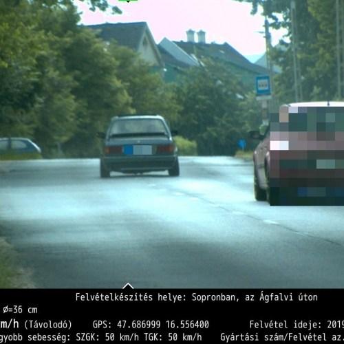 Sopronban történt a hétvége gyorshajtása!