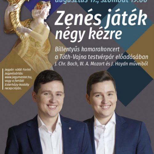 """""""Zenés játék négy kézre"""" – a Tóth-Vajna testvérek koncertje"""