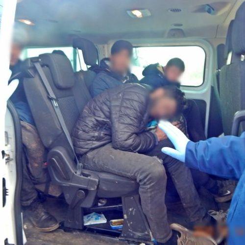Fertőendrédnél egy migránsokkal teli kisbuszt fogtak a rendőrök