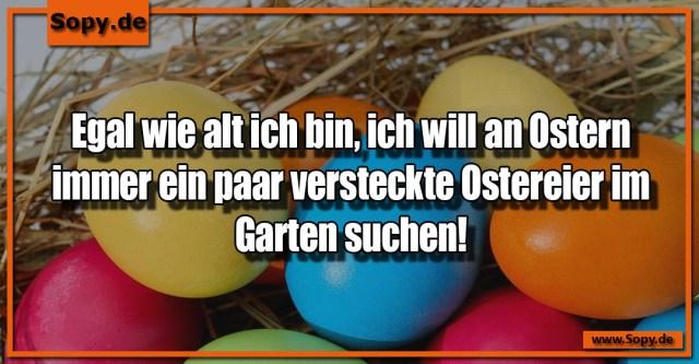 an Ostern
