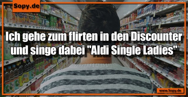 Flirten in den Discounter
