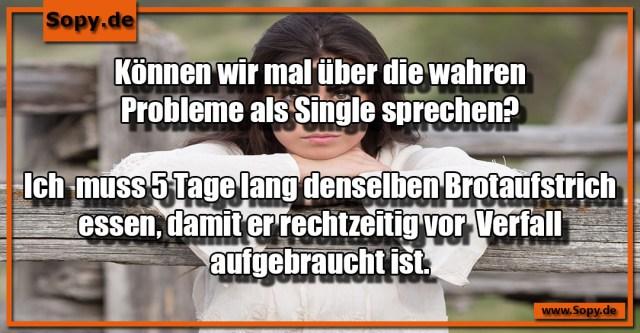 Probleme als Single