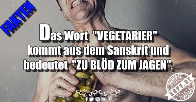 Das Wort Vegetarier