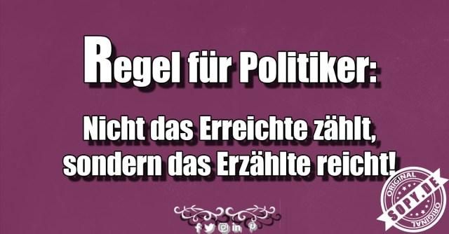 Regel für Politiker