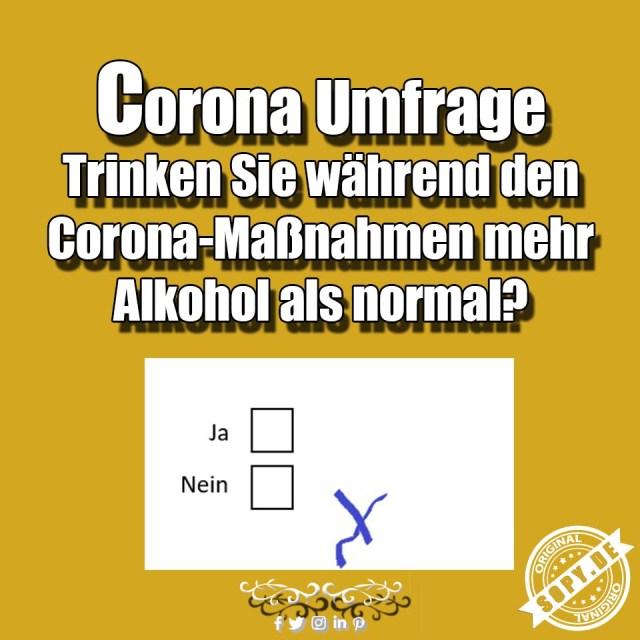 Corona Umfrage