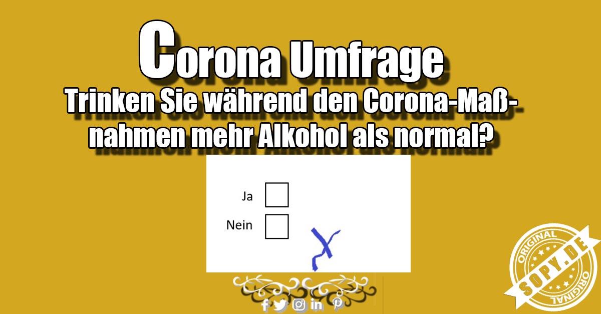 Corona Umfrage, Sprüche & Spruchbilder zum teilen - Sopy