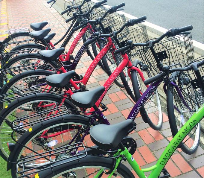Bicycle rental at Soranoshita Kawaguchiko