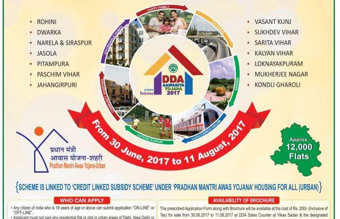 DDA Housing Schemes 2017 Launched – Apply Online, Details