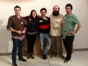 David Rodríguez, Sara Alvarellos, Ricardo Merino, César García y Gabriel Herrero-Beaumont.