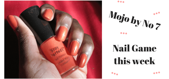 Click through to see my nail polish review of Mojo by No. 7 at Boots, an amazing sparkly orange . You will also see my bonus music pick of the day...