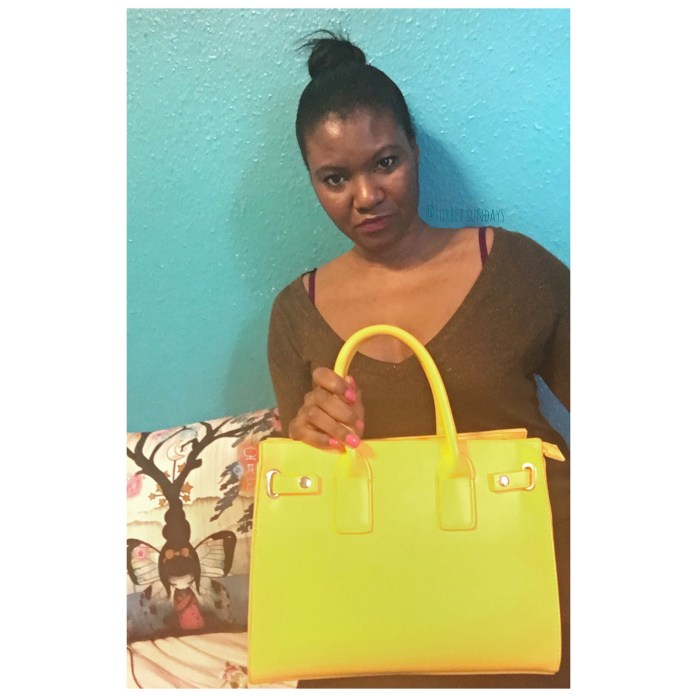 Beautiful yellow handbag I got for Summer Looks this year. Head to sorbetsundays.com to see my other favourite summer needs.