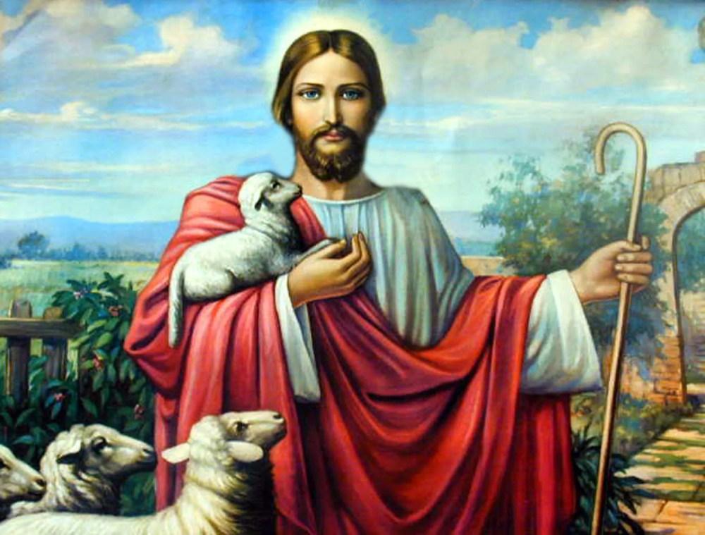Jesus och lamm