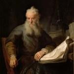 "Rembrandts målning ""Apostlen Paulus"""