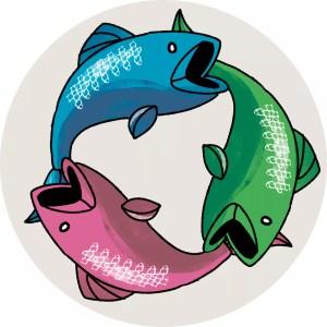 Illustration av fiskar